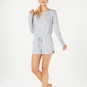 Jenni Soft Printed Knit Pajama Romper